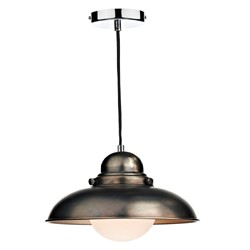 Dynamo 1 Light Pendant in Antique Chrome
