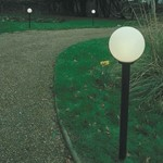 Elco Modular Outdoor Globe Light - 1.8M Pole Post