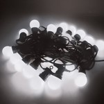 Festoon Party Light String IP44 Harness C/w 20 LED White Lamps - 15M