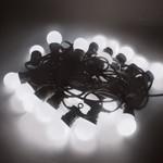 Festoon Party Light String IP44 Harness C/w 20 LED White Lamps - 15M