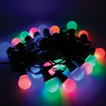 Festoon Party Light String IP44 Harness w/ 20 LED Coloured Lamps - 15M