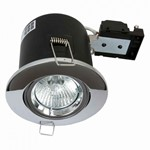 Fire Stop 240v GU10 Adjustable Fire Rated Downlight - Chrome