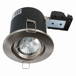 Fire Stop 240v GU10 Adjustable Fire Rated Downlight - Satin Chrome