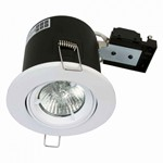 Fire Stop 240v GU10 Adjustable Fire Rated Downlight - White