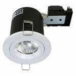 Fire Stop 240v GU10 Fixed Fire Rated Downlight - White