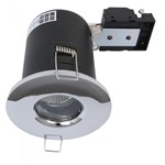 Fire Stop 240v GU10 Shower Fire Rated Downlight - Chrome