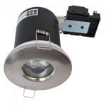 Fire Stop 240v GU10 Shower Fire Rated Downlight - Satin Chrome