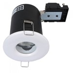 Fire Stop 240v GU10 Shower Fire Rated Downlight - White