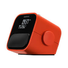 Goodmans Digital & FM Clock Radio with USB Charging in Coral Red
