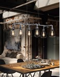 Gotham - Industrial Style Antique Silver 6 Pendant Bar Light