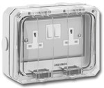 Greenbrook 13A Twin Outdoor Switched Socket IP66