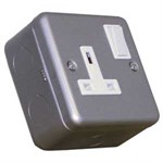 Greenbrook MC411 1 Gang Socket Metal Clad