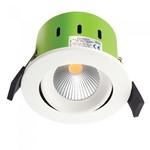 GreenBrook - Tilt 9W LED Fire Rated Downlight - 3000K - White Bezel