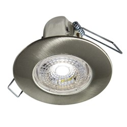 Halers H2 Lite LED Downlight Brushed Steel 3000K Warm White