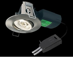 Halers H4 Pro 700T LED Mains Dimmable  Brushed Steel  Downlight With Terminal Block - Neutral White 55 Degree