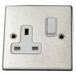 Hartland Satin Stainless Single Socket