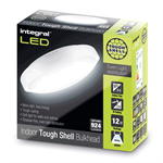 IP44 12W 924lm 4000K Tough-Shell White Bulkhead  - Non-Dimmable