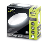 IP44 18W 1350lm 4000K Tough-Shell White Bulkhead - Non-Dimmable