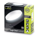 IP44 24W 1750lm 4000K Tough-Shell White Bulkhead - Non-Dimmable