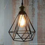 Lamp Cage - Diamond - Black