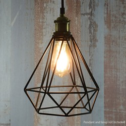 Lamp Cage - Diamond - Black