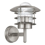 Mouna 60W Stainless Steel Fisherman Outdoor Garden Lantern Wall Light