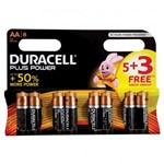 Pack of 8 Duracell AA Alkaline Batteries