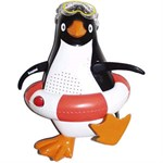 Penguin Shower Radio - Red