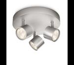 Philips Star LED 3 Spot Plate Aluminum Spot Light