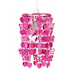 Pink Hearts And Butterflies Ceiling Pendant Shade