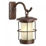 Plug & Play Callisto LED Rusty Brown Outdoor Garden Lantern Wall Light