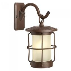 Led Rusty Brown Outdoor Garden Lantern