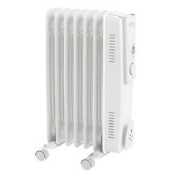 Portable 7 fin oil filled radiator