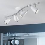 RICCIO2 4x 3W LED White Chrome Trim Twin Spotlight Bar Ceiling Light