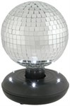 Rotating Mirror Ball With LED Base