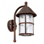 San Telmo 60W ES Antique Brown Outdoor Garden Down Lantern Wall Light