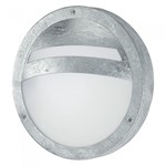 Sevilla 15W Galvanised Steel Eyelid Outdoor Garden Bulkhead Wall Light - IP44