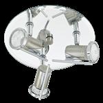 Tamara 3 Light Bathroom Ceiling Spotlight Nickel Matt/Chrome Finish