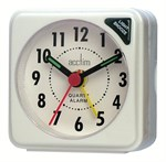 Travel Alarm Clock - White