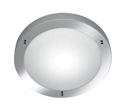 Trio Condus Round Ceiling Light IP44 - MAT NICKEL