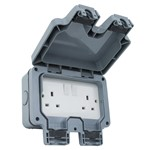 Twin Weatherproof Socket - IP56