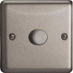 Varilight V-Dim Classic 2-Way Push-On/Off 60-400W Dimmer - Matt Chrome Finish (HS3)