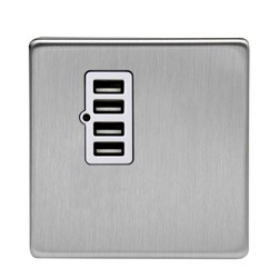 Varilight Screwless USB Socket - White