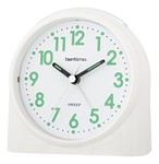 Acctim Bentima White Sweeper Alarm Clock